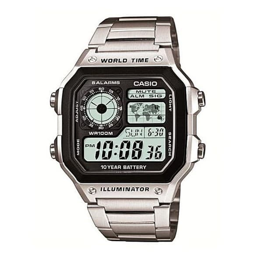 Casio World Time Square Steel AE-1200WHD-1AVDF