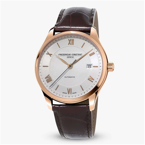 FC Classic Index Automatic White Rose Gold Leather FC-303MV5B4
