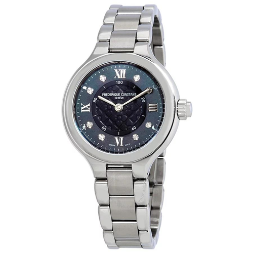 FC Horological Smartwatch Mother of Pearl Grey Steel FC-281GHD3ER6B