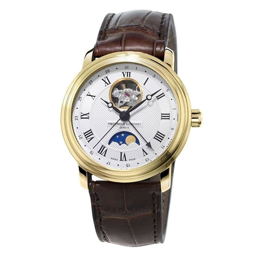 FC Moonphase Open Heart Gold Leather FC-335MC4P5