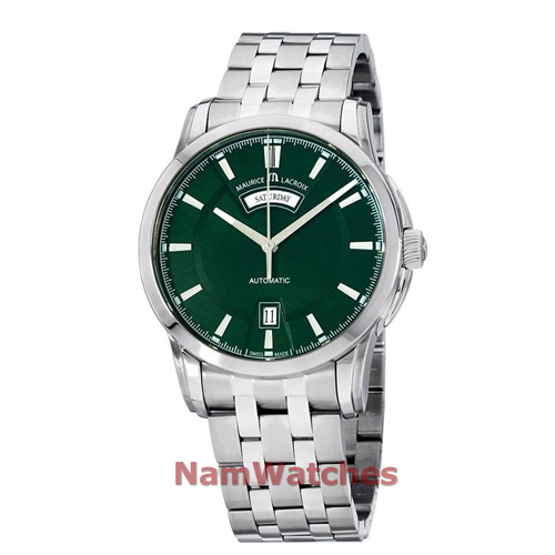 Maurice Lacroix Pontos Day Date Green Steel PT6158-SS002-63E