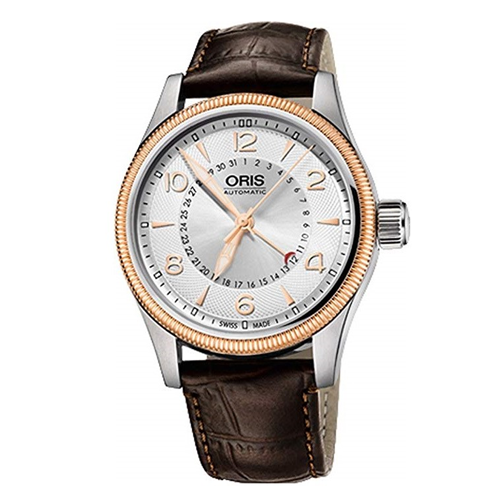 Oris Big Crown Pointer Date Demi Rose Gold Leather 75476794361LS