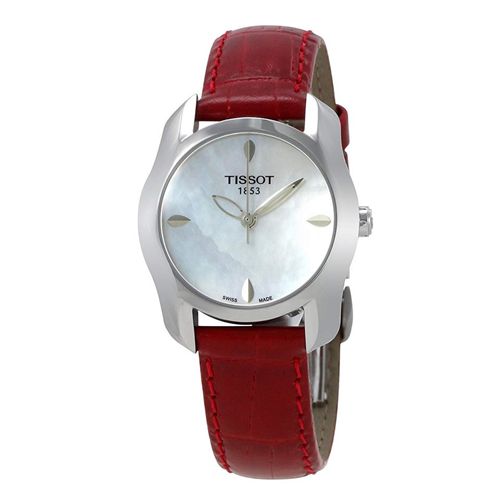 Tissot T-Wave Mother of Pearl Red Leather T023.210.16.111.01 (T0232101611101)